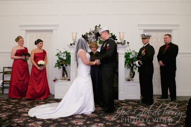 Christina & Christopher exchange vows at TJ Smith's Victorian House chapel.