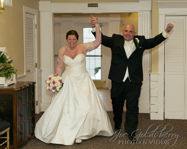 Mr. and Mrs. Eric Machado made their grand entrance into The Pembroke Country Club.