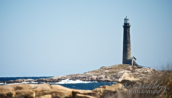 Cape Ann Lighthouse has a twin which can be viewed at the same time, depending on the angle. We choose this photo to highlight just the one tower of beauty.