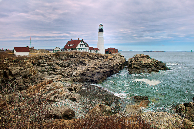 Portland Head Light sits in Cape Elizabeth, Maine. She's another lighthouse with many great angles to view her from.