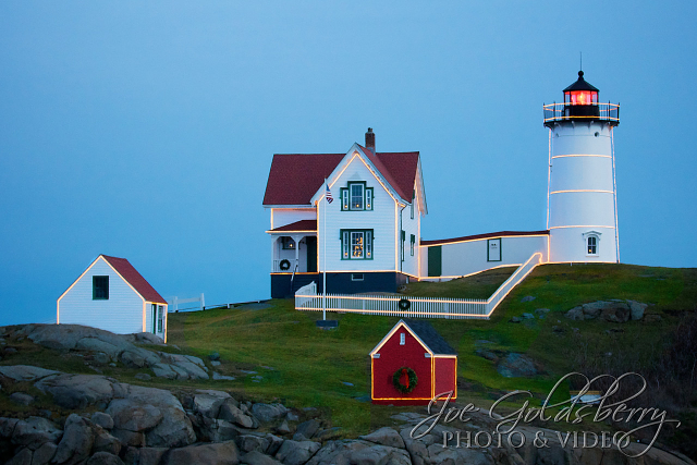 Cape Neddick Lighthouse, also known as Nubble Light is easy to photograph from any angle.