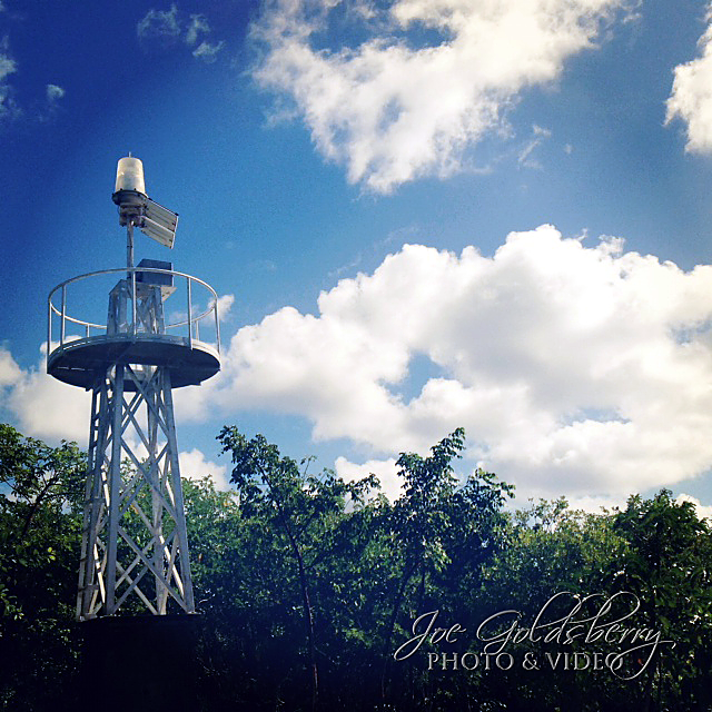 This structure is known as East End Light, aptly named for it's location in the East End of Cayman Island.