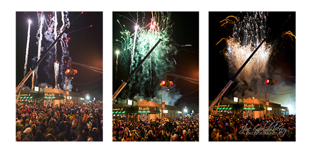 First Night Whitman ended with a bang… fireworks lit up the sky as the cookie dropped at midnight!